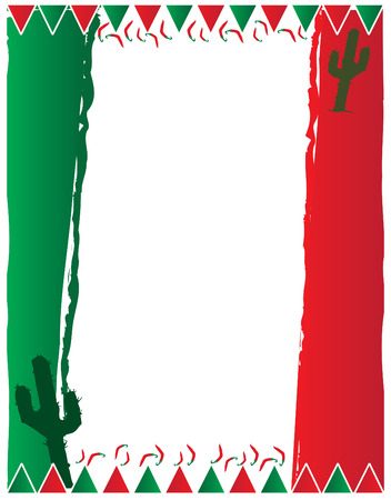 Mexican Background 일러스트