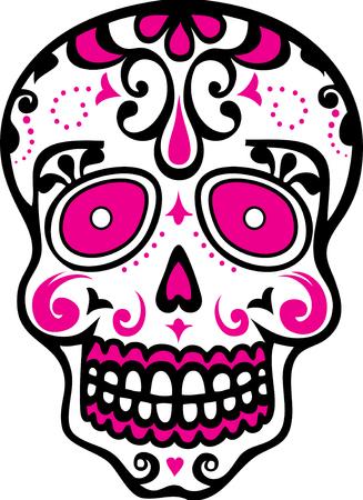 dia de muerto: Cráneo del azúcar Vectores