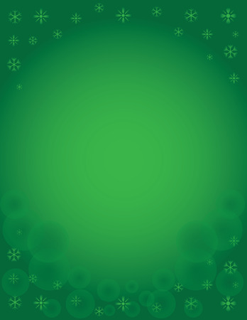 Winter Snowflake Holiday Background Green