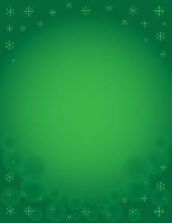 Sneeuwvlok van de winter vakantie achtergrond Green Stock Illustratie