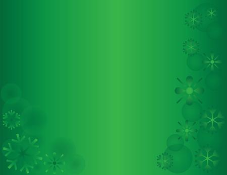 snow drift: Winter Snowflake Holiday Background Green Horizontal