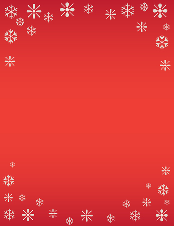 Winter Snowflake Holiday Background Red