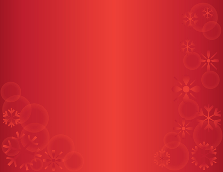 snow drift: Winter Snowflake Holiday Background Red Horizontal