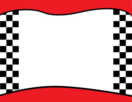 Checkered Flag Border Background Vectores
