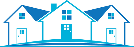 Real Estate House Logo Blue Home