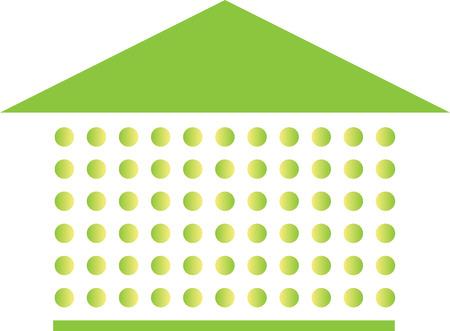 부동산 템플릿 녹색 점입니다.