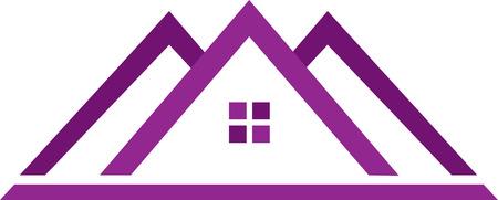 Real estate template in purple.