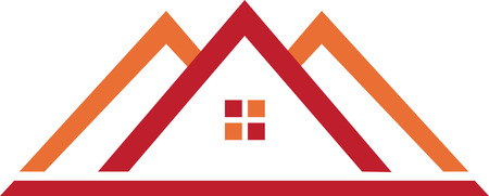 Real estate template in red orange.