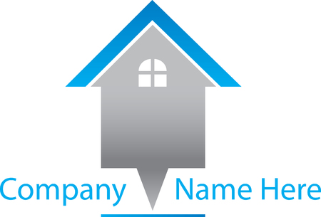 Real estate template in grey blue.