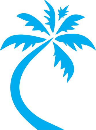 Palm Tree icon Clip Art Blue