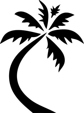 Palm Tree icon Clip Art Black