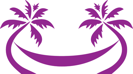 Tropical Palm Tree Hammock icon