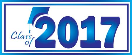 Class of 2017 Blue  イラスト・ベクター素材
