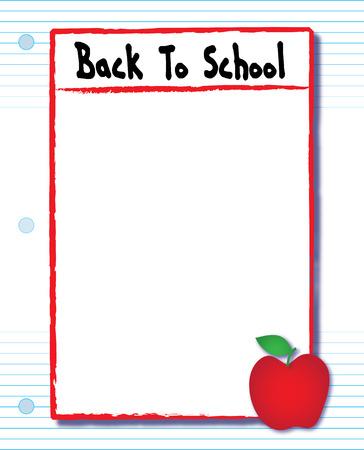 다시 학교 노트북 종이 전단지 스톡 콘텐츠 - 60893088