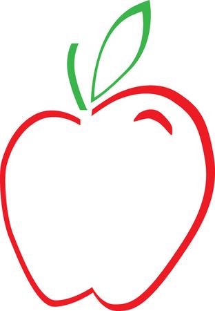 middle school: Apple Outline Illustration