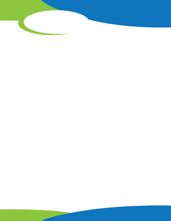 Blue Green Oval Logo Letterhead Template