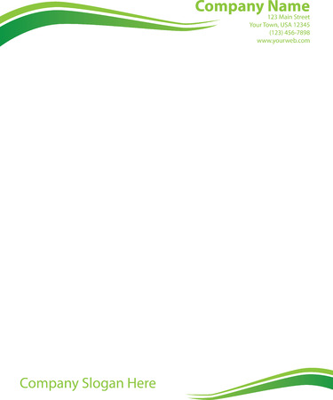 Wave letterhead template green royalty free cliparts vectors and vector wave letterhead template green spiritdancerdesigns Choice Image
