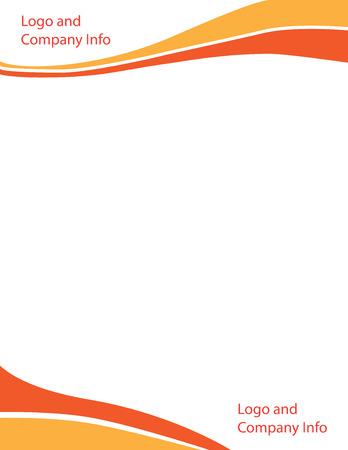 Wave Letterhead Template Orange