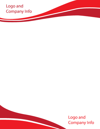 Wave Letterhead Template Red Illusztráció