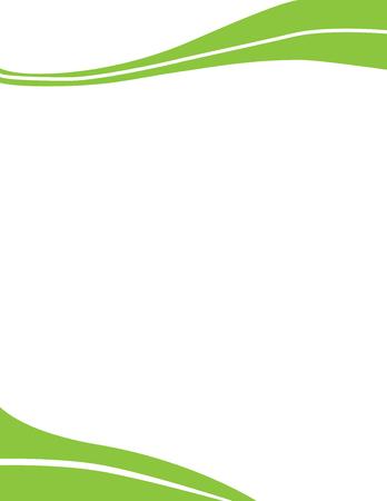 Wave Letterhead Template Green Vettoriali