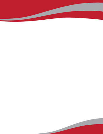 Wave Letterhead Template Red Grey