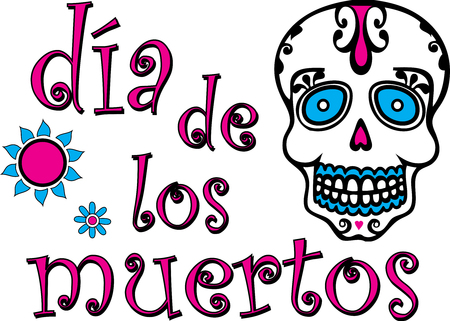 Day of the Dead Graphic Colorful Spanish