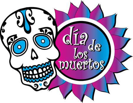 Spanish Day of the Dead Graphic Colorful