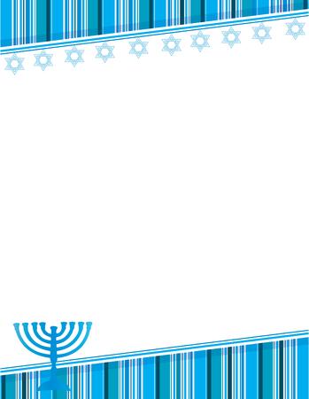 Hanukkah blue background