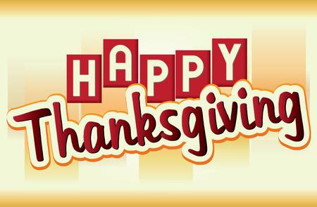 Happy Thanksgiving Banner Illustration
