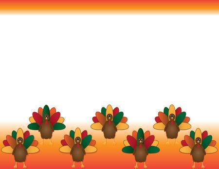 感謝祭の七面鳥の背景  イラスト・ベクター素材