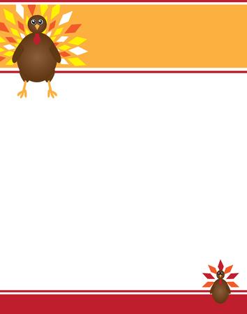 Thanksgiving Turkey Flyer Background