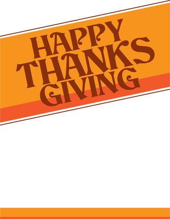 Happy Thanksgiving flyer or poster, vector illustration.