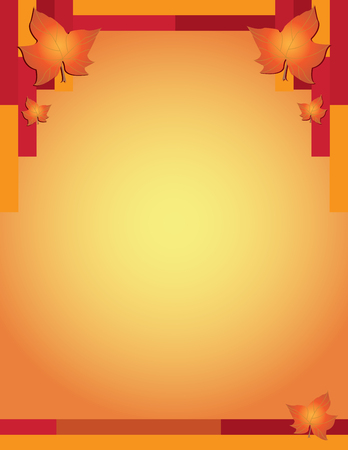 Fall autumn thanksgiving poster background, vector illustration.