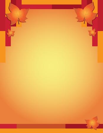 Fall autumn thanksgiving poster background, vector illustration.