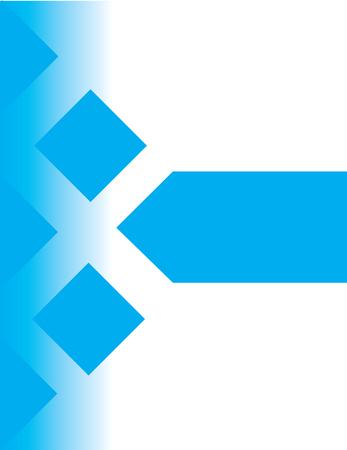 Professioneel blauw affichemalplaatje, vectorillustratie. Stockfoto - 89824857