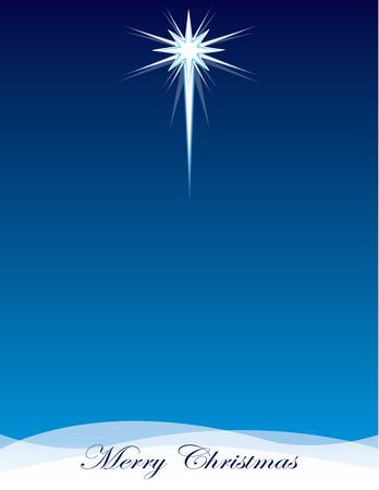 Star of Bethlehem Full Page Background Illustration
