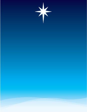 Star of Bethlehem Full Page Background Stock Illustratie