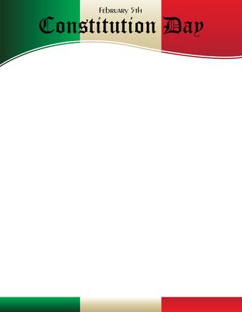 メキシコ憲法記ポスター背景。