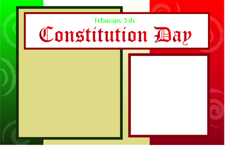 Mexico constitution day template.