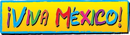 Colorful Viva Mexico banner.