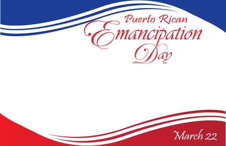 Puerto Rican Emancipation Day Postcard Border Ilustracja
