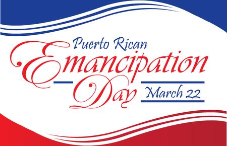 Puerto Rican  Emancipation Day Postcard Banner Illustration