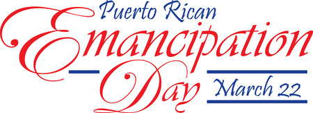 Puerto Rican  Emancipation Day March 22 Banner
