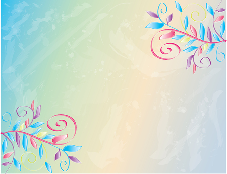 Watercolor Spring border in colorful Illustration.