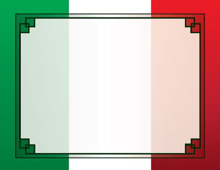 멕시코 국기 테두리 배경