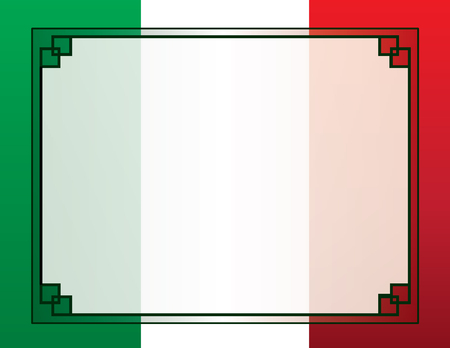 Mexican Flag Border Background