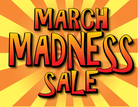 March madness sale banner.