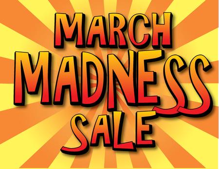 Banner de venta de locura de marzo.