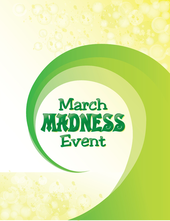 March Madness Event with Green Swirl