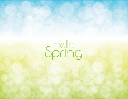 Hello spring background.